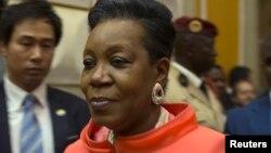 La présidente Catherine Samba-Panza a conféré dimanche avec le nouveau Premier ministre André Nzapayeké