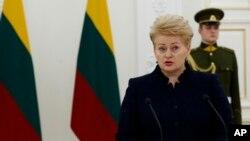 Даля Грібаускайте, президент Литви
