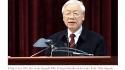 TBT-CTN Nguyễn Phú Trọng phát biểu với Ban Nội chính Trung ương