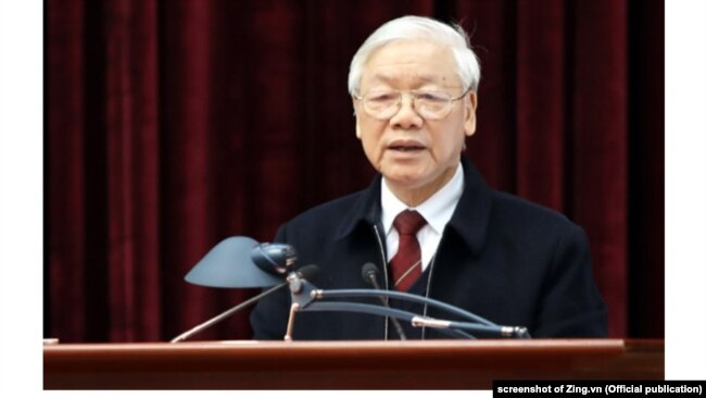 Ông Nguyễn Phú Trọng phát biểu với Ban Nội chính Trung ương.