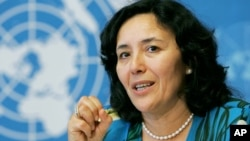 FILE - U.N. special representative for children and armed conflict, Leila Zerrougui, June 2005.