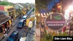 Đoàn xe của Thủ tướng Nguyễn Xuân Phúc rầm rộ kéo vào phố cổ Hội An, bất chấp bảng cấm xe cơ giới.