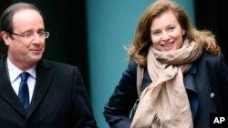Francuski predsednik Fransoa Oland i njegova partnerka Valeri Trirveler
