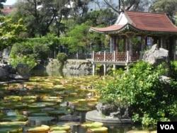 台北郊区的双溪公园 (美国之音许波拍摄)