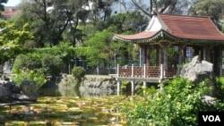 台北郊區的雙溪公園 (美國之音許波拍攝)
