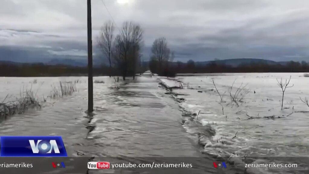 Përmbyten disa zona të Shkodrës, Lezhës dhe Vaut të Dejës