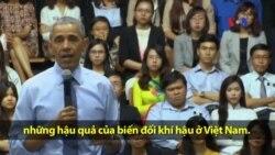 TT Obama phát biểu về hậu quả của biến đổi khí hậu ở Việt Nam