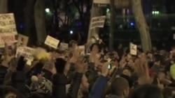 西班牙民众抗议政府的财政紧缩政策