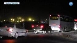 Azez'den Yaklaşık 40 Otobüslü Konvoyla Gelen ÖSO'lular Akçakale'de