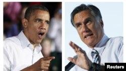 Tổng thống Barrack Obama (trái) và ông Mitt Romney