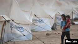 지난 7월 시리아 국경에 위치한 요르단 난민캠프의 모습.(자료사진)