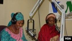 Hausa Service Halima Djimrao-Kane (left) and Jummai Ali (right)