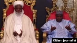 Sarkin Musulmi Muhammad Sa'ad Abubakar III da gwamnan jihar Sokoto Aminu Waziri Tambuwal