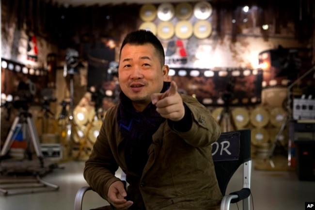2018年3月22日,紀錄片《厲害了,我的國》的導演衛鐵在北京電影學院接受采訪。