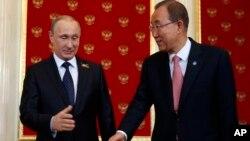 Владимир Путин и Пан Ги Мун
