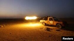 Mayakan 'yan tawaye na harba makamansu kan mayakan gwamnatin Syria