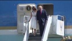 川普总统抵达夏威夷