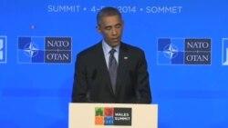 کنفرانس مطبوعاتی پرزیدنت اوباما در ولز