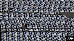 Mobil-mobil baru Porsche di pabrik Porsche di kota Leipzig, Jerman (foto: ilustrasi).