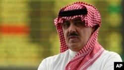 FILE - Mwanamflame Miteb bin Abdul Aziz,kijana wa mfalme wa zamani Abdullah bin Abdul Aziz al-Saud.