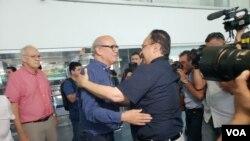 Carlos Fernando Chamorro, regresó este lunes a Nicaragua, después de once meses en el exilio. Foto Daliana Ocaña.