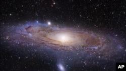 Imagen de la galaxia de Andrómeda captada por el telescopio espacial Hubble.