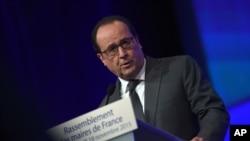 法国总统奥朗德(资料照片)