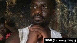 Freddy Libeba au cachot à Bangui, Centrafrique, June 13 2017. (FIDH)