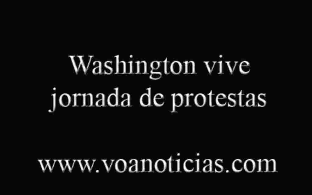 Washington vive jornada de protesta