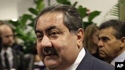 伊拉克外交部長霍希亞爾.茲巴里在紐約向外交關係委員會成員發表演講。