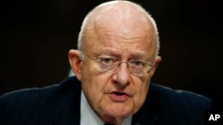 Direktur Dinas Intelijen Nasional AS, James Clapper, di Gedung Capitol, Washington (9/2).