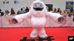 """The character Everest from the film """"Abominable"""" appears on the red carpet on day three of the Toronto International Film Festival at Roy Thomson Hall on Saturday, Sept. 7, 2019, in Toronto, Canada."""