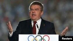 Presiden IOC, Thomas Bach (foto: dok). IOC memberi pengakuan sementara terhadap komite Olimpiade nasional Kosovo.
