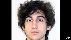 FILE - This photo provided by the Federal Bureau of Investigation shows Boston Marathon bombing suspect Dzhokhar Tsarnaev.