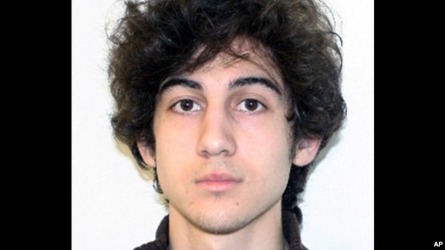 FILE - Boston Marathon bombing suspect Dzhokhar Tsarnaev is seen in a photo provided April 19, 2013, by the Federal Bureau of Investigation.