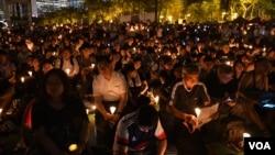 香港支聯會燭光集會悼念六四29周年