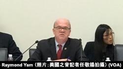 美國國會及行政當局中國委員會主席麥戈文眾議員 (攝影:美國之音記者任敬揚)