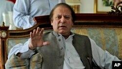 Ông Nawaz Sharif, lãnh đạo Đảng Liên minh-Nawaz Hồi giáo Pakistan (PML-N). Ông đã từng hai lần giữ chức thủ tướng Pakistan.