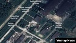 지난해 9월 38노스가 공개한 북한 영변 핵단지 내 방사화학 실험실 건물 모습. (자료사진)