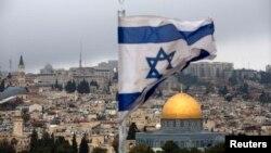 Quang cảnh thành cổ Jerusalem nhìn từ đỉnh núi Olives hôm 6/12.