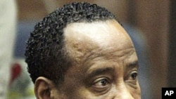 Dr. Conrad Murray, singer Michael Jackson's personal physician, appears in Los Angeles Superior Court, (File).