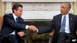 美國總統奧巴馬和墨西哥總統涅托星期二白宮進行會談。