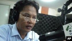 "Sok Touch, rector of Khemarak University, on ""Hello VOA"" Monday."