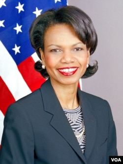 U.S. Secretary of State Condoleezza Rice, who served President George W. Bush.