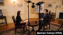Степан Полторак, міністр оборони України, під час інтерв'ю у Вашингтоні