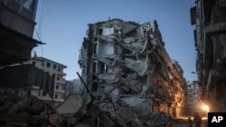 Avahîyeke hilweşî li bajarê Halabê