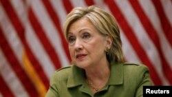 미국 민주당의 힐러리 클린턴 대선후보가 지난 18일 뉴욕에서 열린 지지 행사에서 연설하고 있다. (자료사진)