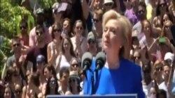 希拉里克林頓首場大型競選集會稱為每一位美國人而戰