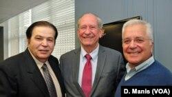 Ο Γ. Μπίστης με τον Άλαν Χάηλ και τον Τασλάν Σουερντέμ