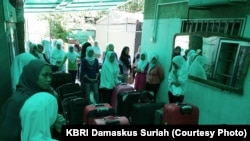 Suasana Persiapan Pemulangan TKI di Suriah (Courtesy: KBRI Damaskus, Suriah)